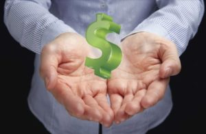 знак доллара руки